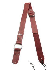 Bitchstrap Single Ring Leather Guitar Strap, Burgundy