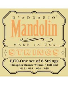 EJ70 Phosphor Bronze Mandolin Strings, Ball End, Medium/Light, 11-38