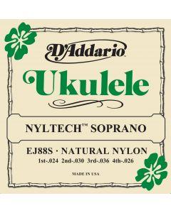 D'Addario EJ88S Nyltech Ukulele, Soprano