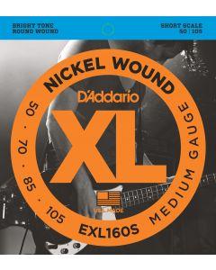 EXL160S Nickel Wound Bass, Medium, 50-105, Short Scale