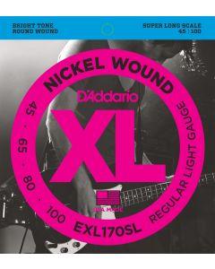 EXL170SL Nickel Wound Bass, Light, 45-100, Super Long Scale