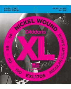 EXL170S Nickel Wound Bass, Light, 45-100, Short Scale