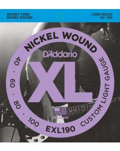 EXL190 Nickel Wound Bass, Custom Light, 40-100, Long Scale