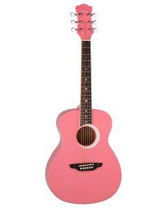 Luna Aurora Borealis 3/4 Acoustic Guitar Pink Pear Sparkle