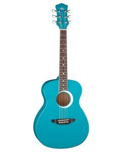 Luna Aurora Borealis 3/4 Acoustic Guitar Teal Sparkle