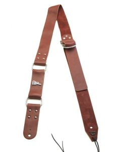 Center Leather Bitchstrap, Brown