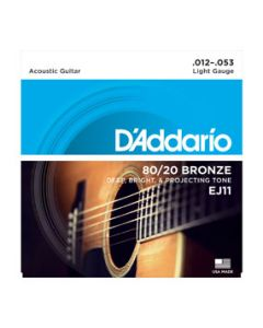 D'Addario EJ11 Acoustic Guitar Strings Light Gauge 12 - 53