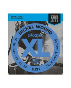 D'Addario EJ21 Nickel Wound Jazz Light 12 - 52 Electric Strings