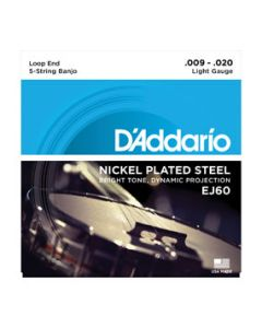 D'Addario EJ60 Nickel Plated Steel 5-String Light Gauge Banjo Strings