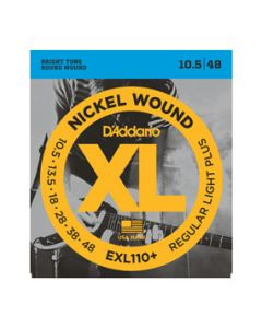 D'Addario EXL110+ Nickel Wound, Regular Light Plus Strings, 10.5 - 48