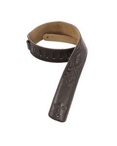 """Levy's Leather Dark Brown 2-1/2"""" Strap DM1SG-DBR"""