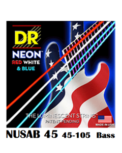 Neon Hi-Def Red White & Blue Bass NUSAB-45