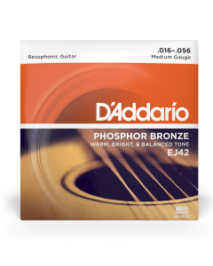 D'Addario EJ42 Phosphor Bronze Resophonic 16-56 Guitar Strings
