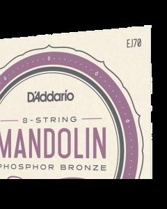D'Addario EJ70 Phosphor Bronze Mandolin Strings, Med/Light, Ball ends