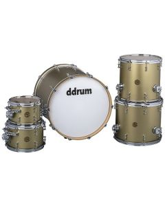 ddrum dios maple 5 piece satin gold shell pack drum kit