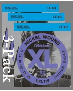EXL115 3 Pack Medium Nickel Wound