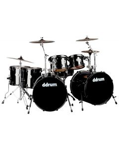 ddrum Journeyman Midnight Black Drumset w/Hardware