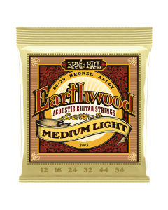 Ernie Ball 2003 Earthwood 80/20 Bronze Acoustic Strings Med/Light 12 - 54