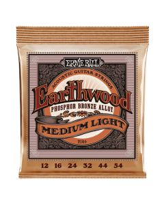 Ernie Ball 2146 Earthwood Phosphor Bronze Acoustic Strings Med-Light 12 - 54