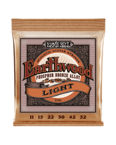 Ernie Ball 2148 Earthwood Phosphor Bronze Acoustic Strings Light 11 - 52