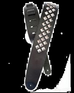 Diamond Stud Leather Guitar Strap
