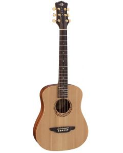 Luna Safari Supreme Travel Guitar, Solid Spruce Top