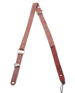 Bitchstrap Skinny Ring Leather Guitar Strap, Burgundy