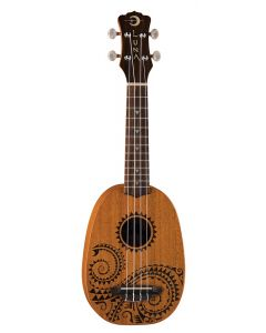 Luna Tattoo Pineapple Mahogany Soprano Uke Pack