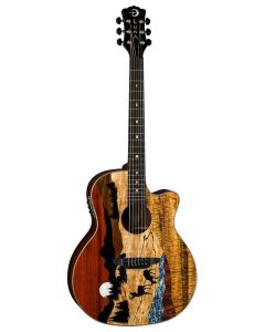 LUNA Vista Deer Tropical Wood A/E Guitar w/case