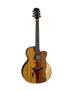 LUNA Vista Eagle Tropical Wood Acoustic w/pre-amp Case included