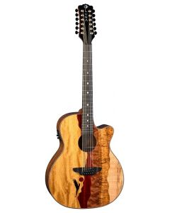 LUNA Vista Eagle 12-String Cutaway A/E with Case