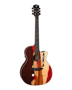 LUNA Vista Mustang A/E Guitar Gloss Natural w/Case