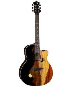 LUNA Vista Wolf A/E Gloss Natural Guitar w/case